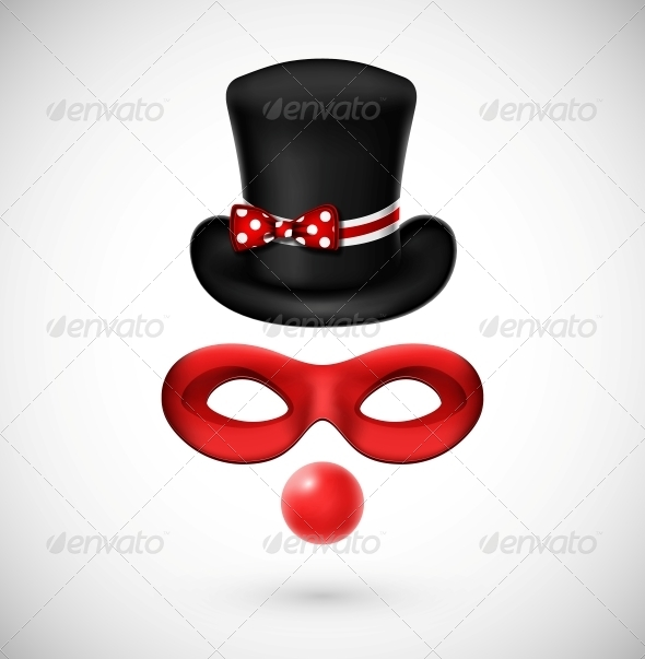 GraphicRiver Accessories of a Clown 4709756