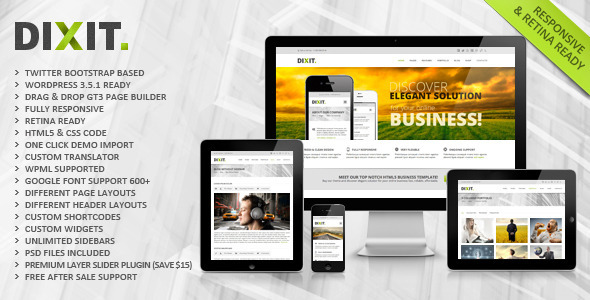 ThemeForest Dixit Responsive Multipurpose Wordpress Theme 4709826
