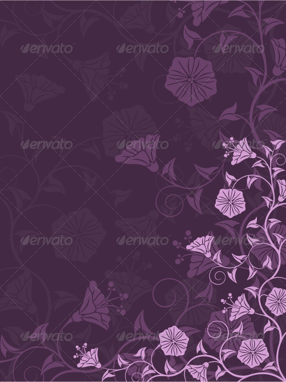 Graphic River Abstract floral background Vectors -  Conceptual  Nature  Flowers & Plants 491670