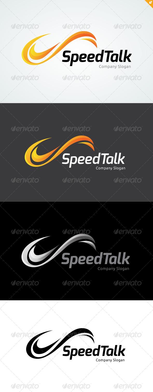 GraphicRiver Speed Talk Logo 4710056