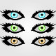 Three Sets of Eyes In Different Colors - GraphicRiver Item for Sale