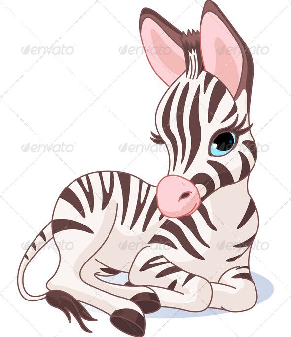GraphicRiver Cute Zebra Foal 4710684