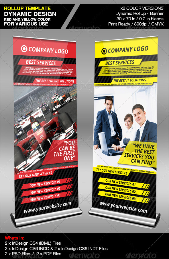 GraphicRiver Dynamic Company RollUp Banner 4710766