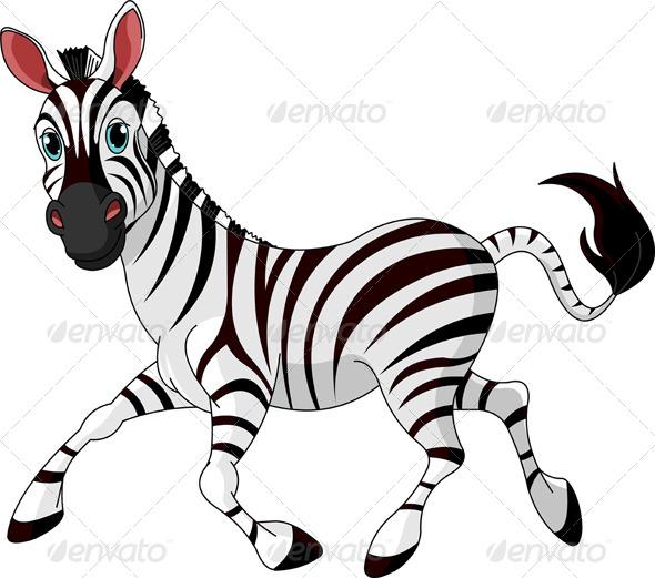 Funny Running Zebra