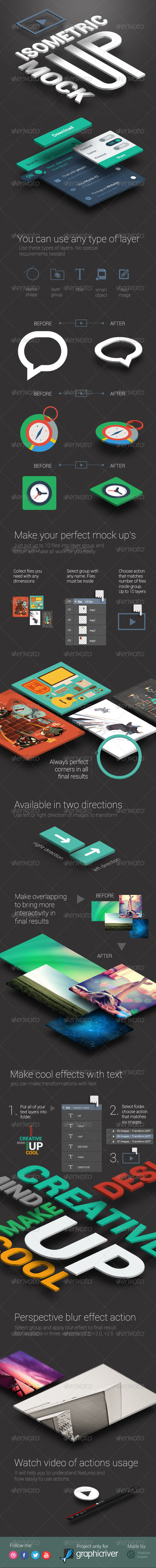 GraphicRiver Isometric Mock-UP Actions 4711538