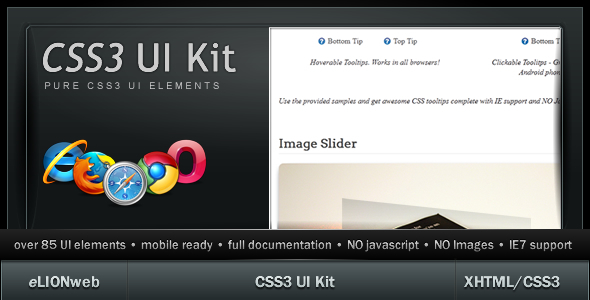 CodeCanyon CSS3 UI Kit Clean 489525