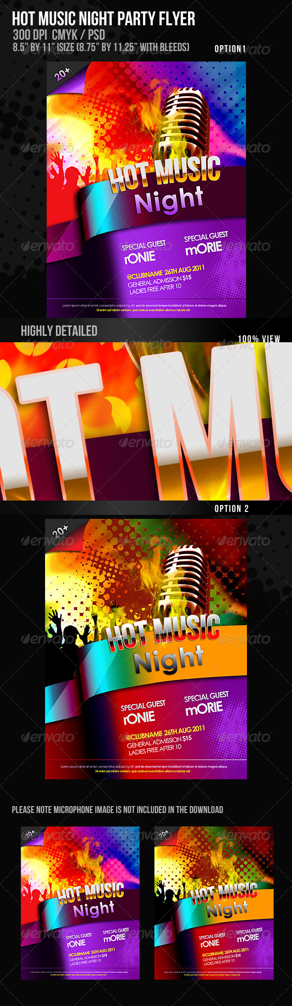 GraphicRiver Hot Music Night Flyer 492178