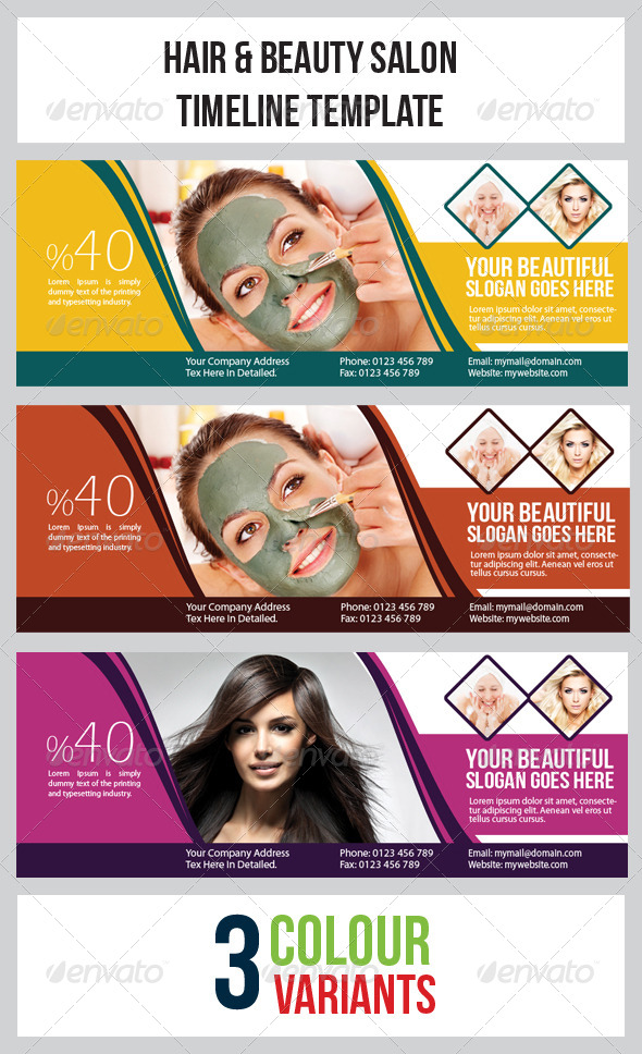 GraphicRiver Hair & Beauty Salon Timeline Template 4711751