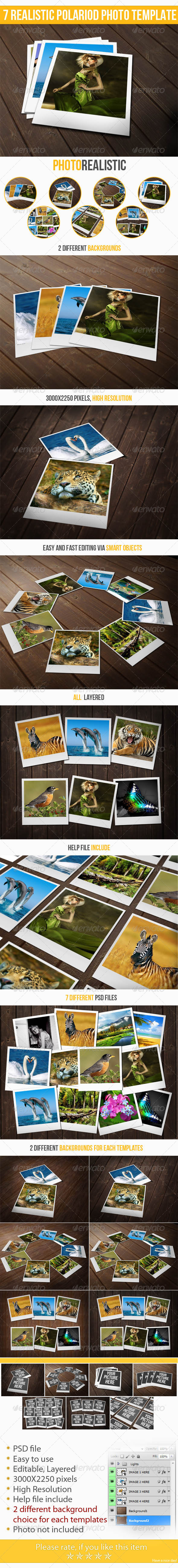 7 Realistic Instant Photo Templates - Miscellaneous Photo Templates
