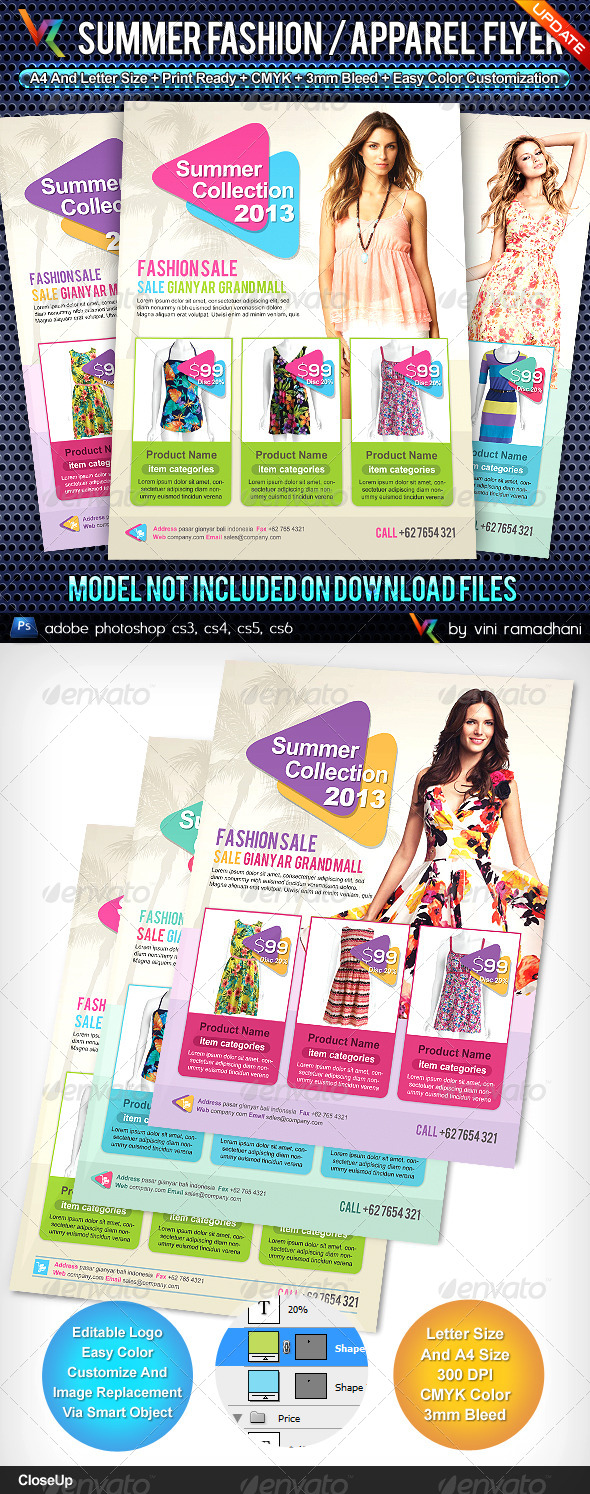 GraphicRiver Summer Fashion Collection Flyer 4620319