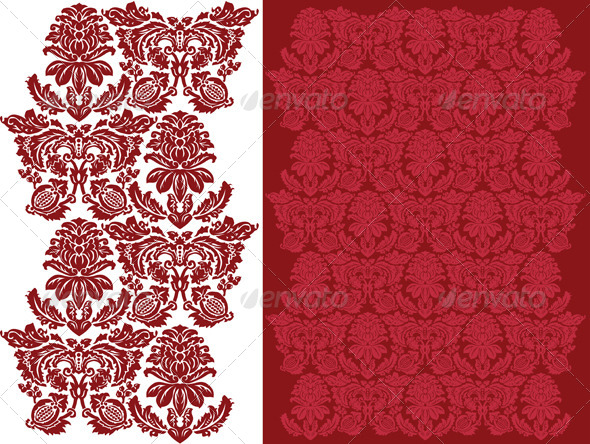 GraphicRiver Floral Damask Pattern 4712455