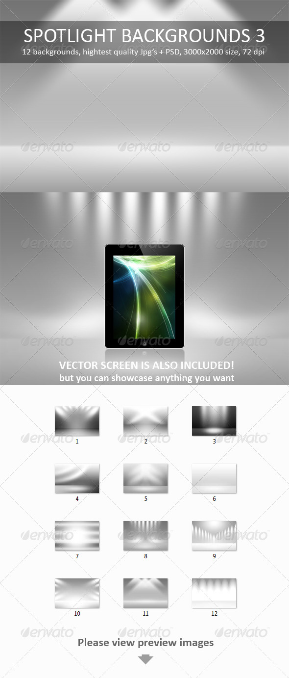 12 Spotlight Backgrounds Pack 3 - Backgrounds Graphics