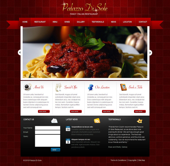 Palazzo Di Sole - Wordpress Theme - Food Retail