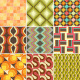 Set of Colorful Retro Seamless Pattern Wallpaper - GraphicRiver Item for Sale