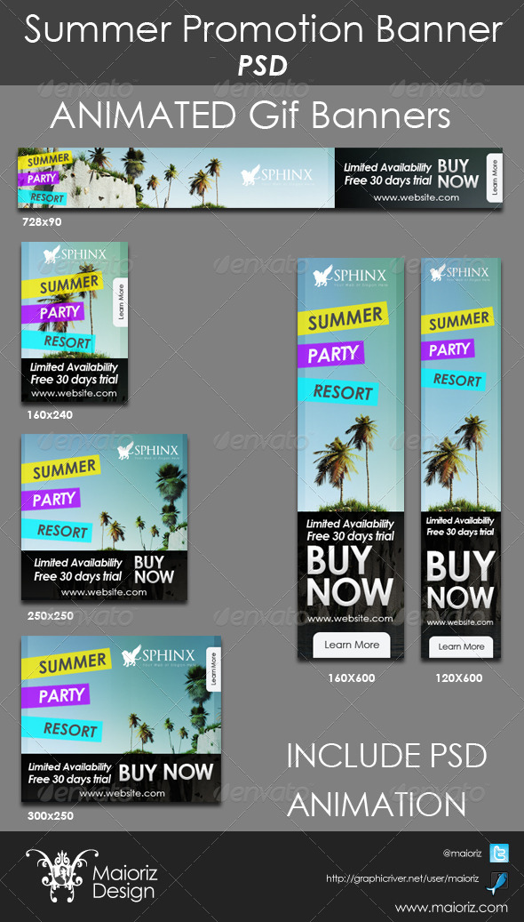 GraphicRiver Summer Promote Banners 4712655