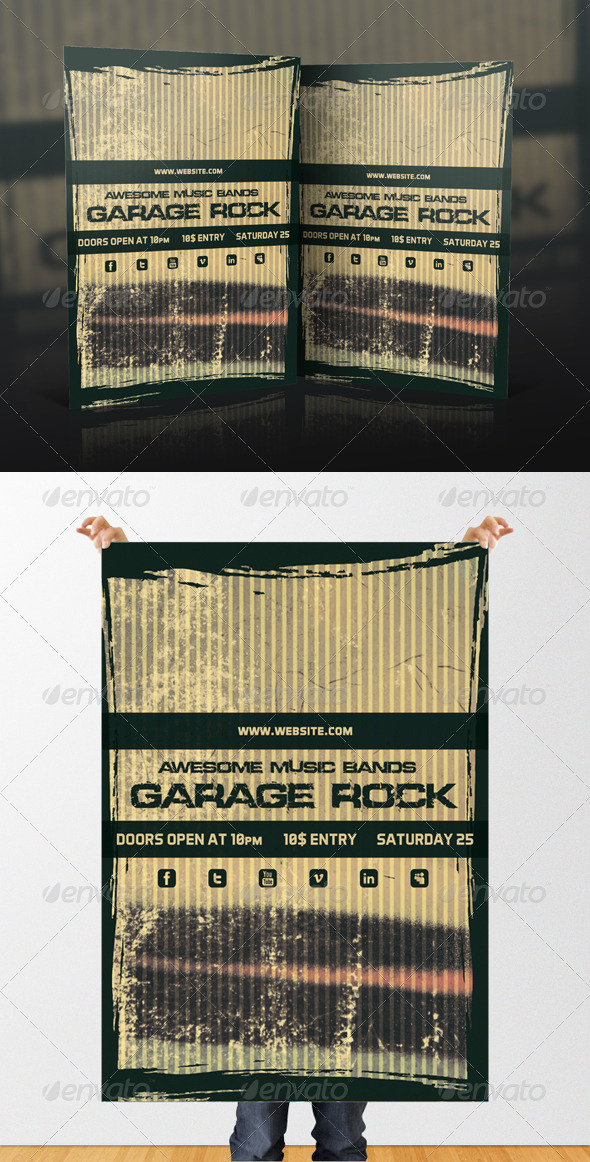 GraphicRiver Garage Rock Flyer Design 4712658
