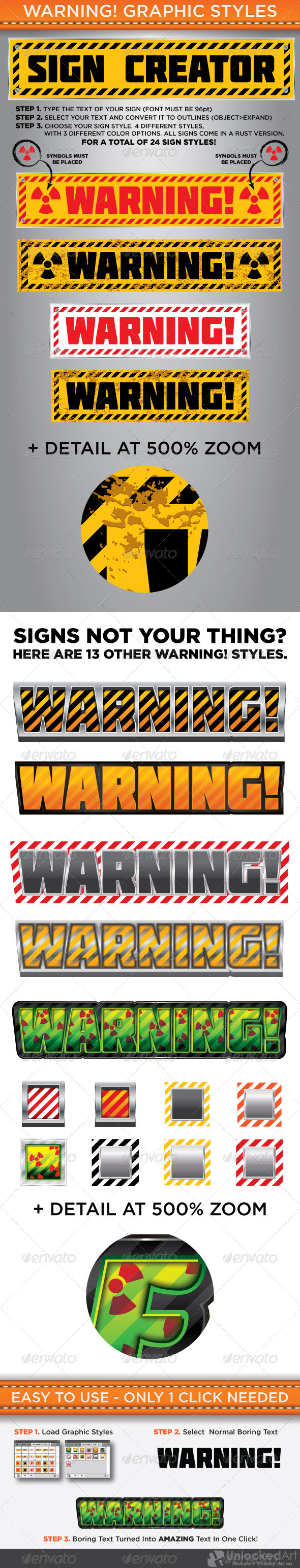 GraphicRiver Warning Graphic Styles 4712944