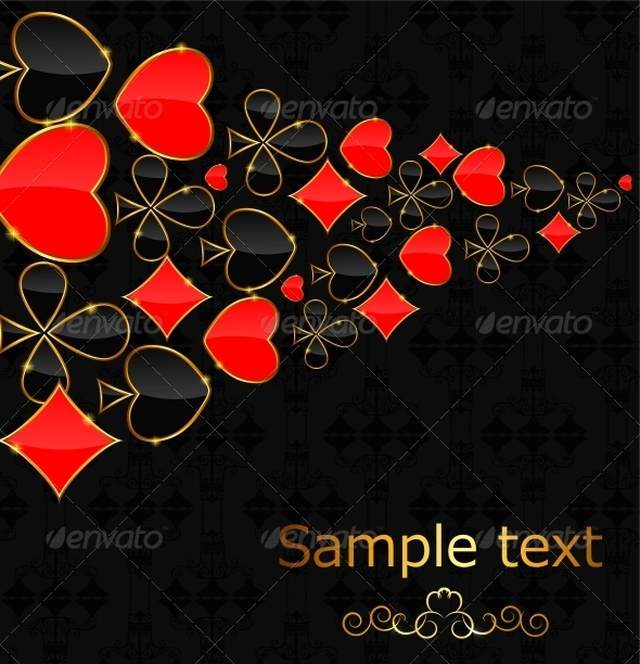 GraphicRiver Abstract Background with Card Suits for Design 4712951