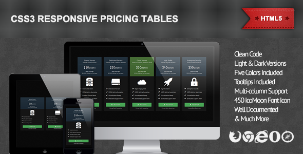CodeCanyon CSS3 Responsive Pricing Tables 4712963