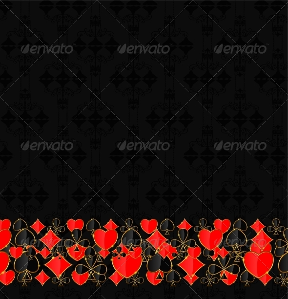 GraphicRiver Abstract Background with Card Suits for Design 4712971