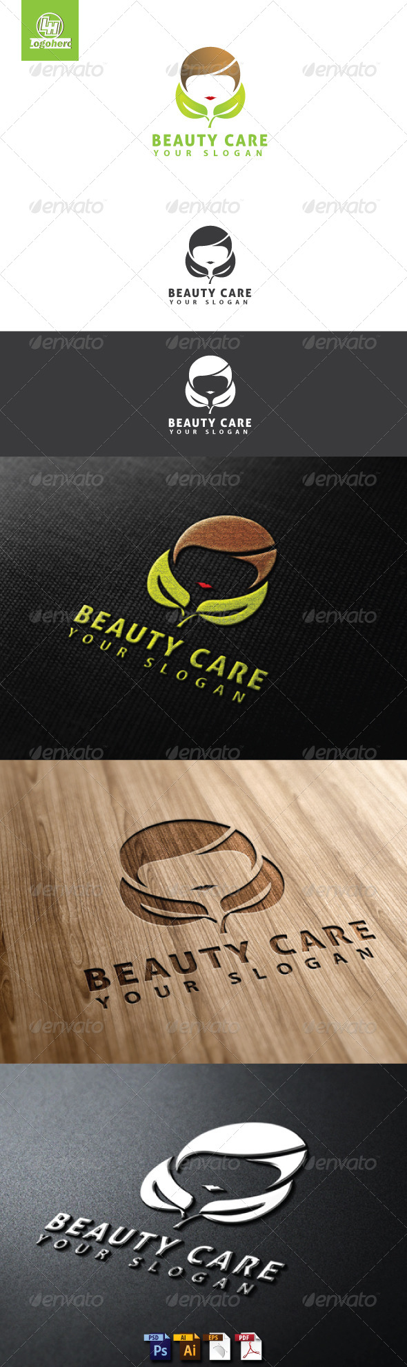 GraphicRiver Beauty Care Logo Template 4655296