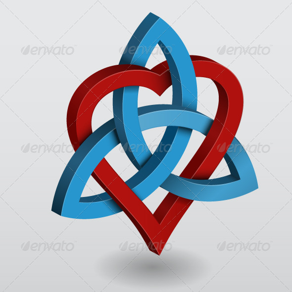 GraphicRiver Illustration of Celtic Knot Triquetra with Heart 4713039