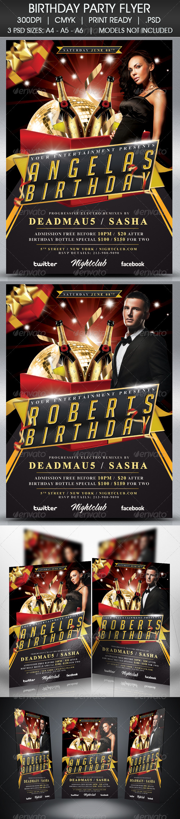 Birthday Party Flyer - Events Flyers