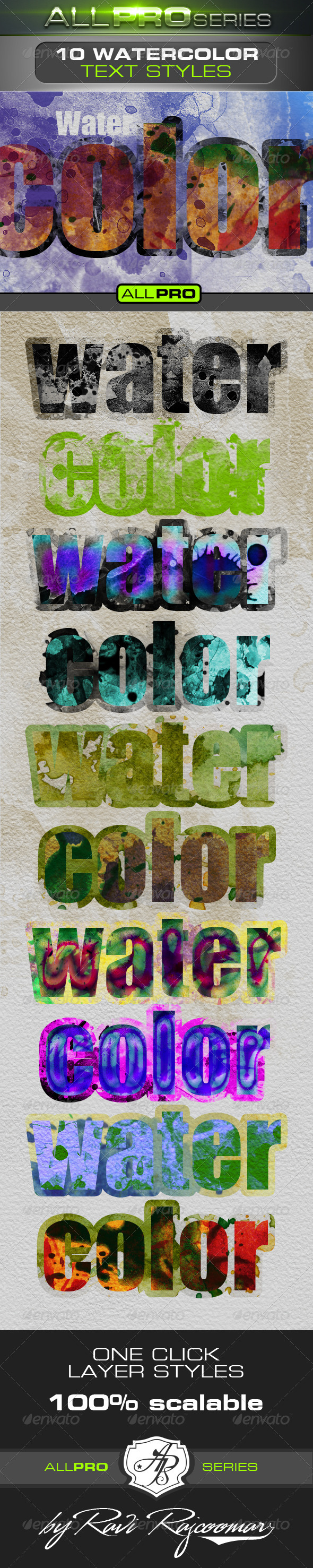 GraphicRiver Watercolor Photoshop Text Styles 4713130