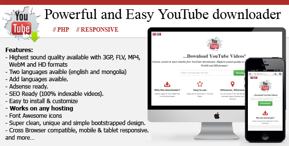 CodeCanyon Powerful and Easy YouTube downloader 4697601