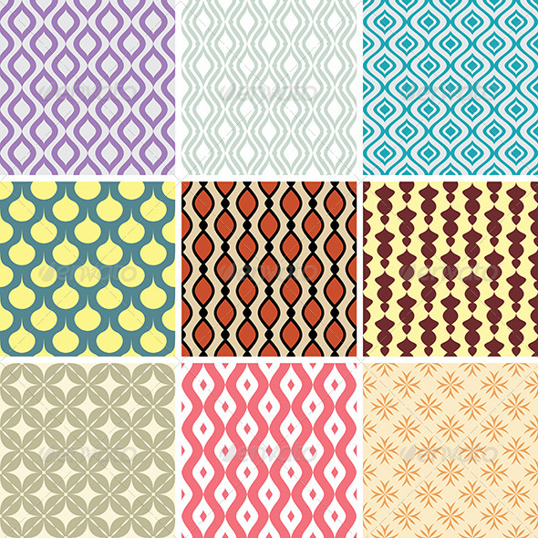 GraphicRiver Abstract Vector Patterns 4713269