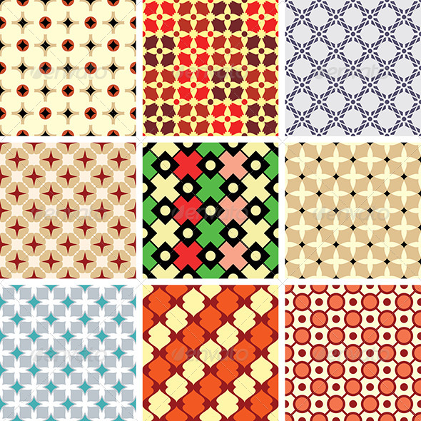 GraphicRiver Abstract Vector Patterns 4713270