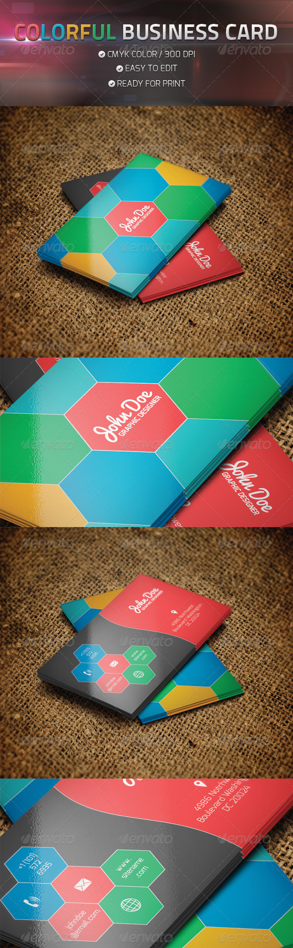 GraphicRiver COLORFUL BUSINESS CARD 4713307