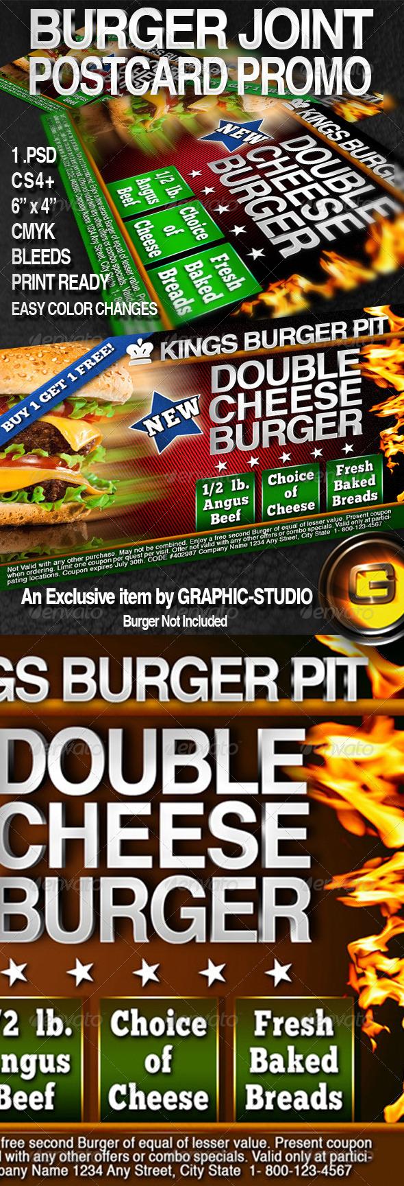 GraphicRiver Burger Postcard Promo 6x4 3067833