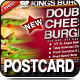 Burger Postcard Promo 6x4 - GraphicRiver Item for Sale