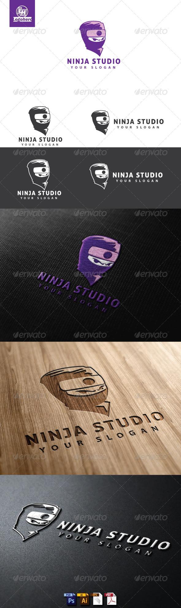 GraphicRiver Ninja Studio Logo Template 4713376
