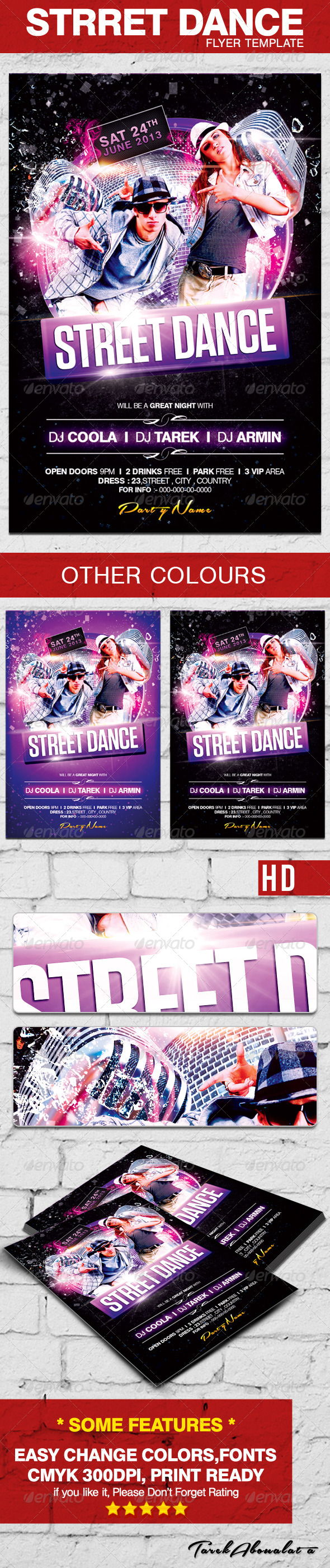 GraphicRiver Street Dance Flyer Template 4713424