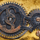 Fragment of old clock mechanism with gears - PhotoDune Item for Sale