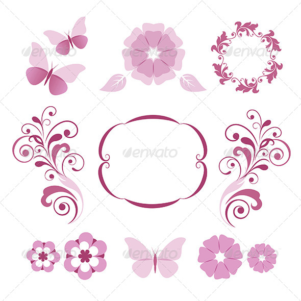 GraphicRiver Floral Decorative Elements 4713788
