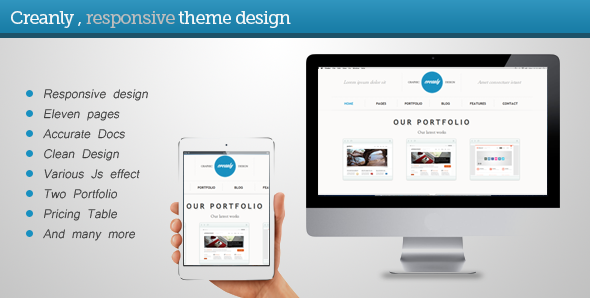 ThemeForest Creanly Responsive clean theme design 4693711