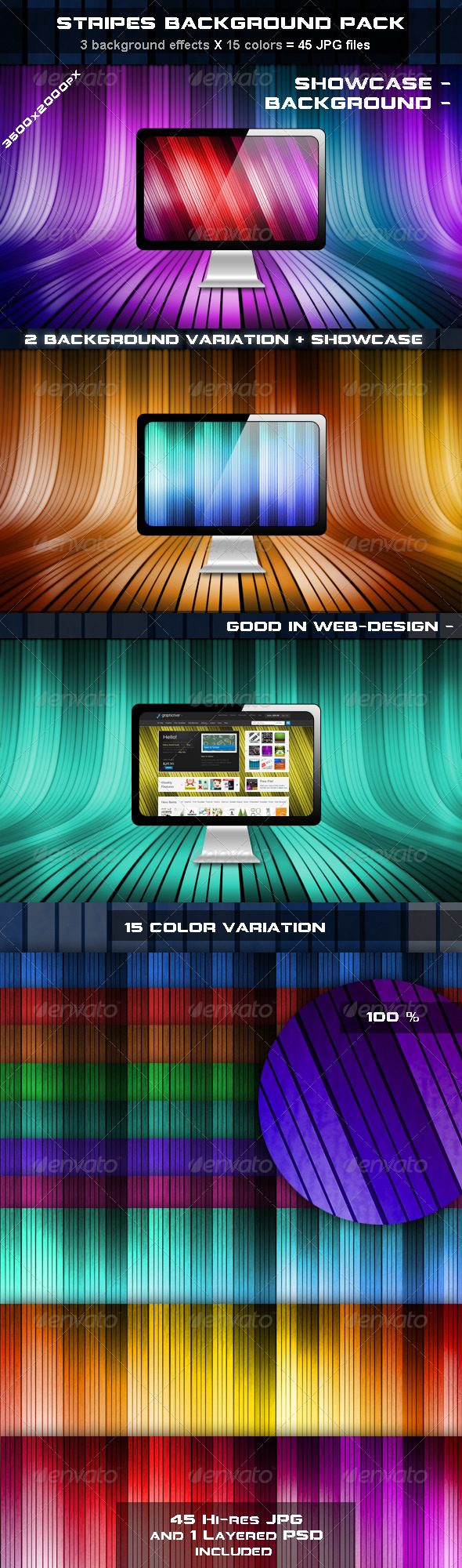 GraphicRiver Stripes Background Pack 492529