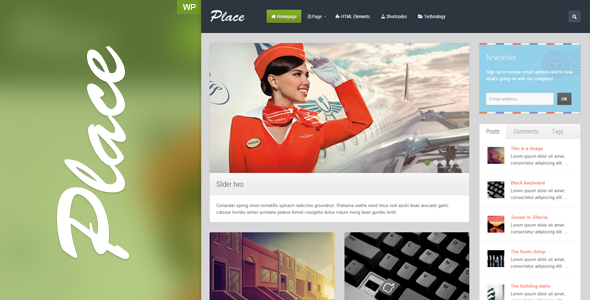 Place - Responsive Blogging WordPress Theme - 01_Preview.png for preview of item detail
