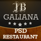 Galiana Restaurant - PSD - ThemeForest Item for Sale