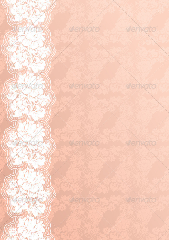 GraphicRiver Floral Background with Lace 4715261