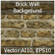 Brick Wall Background (Vector)