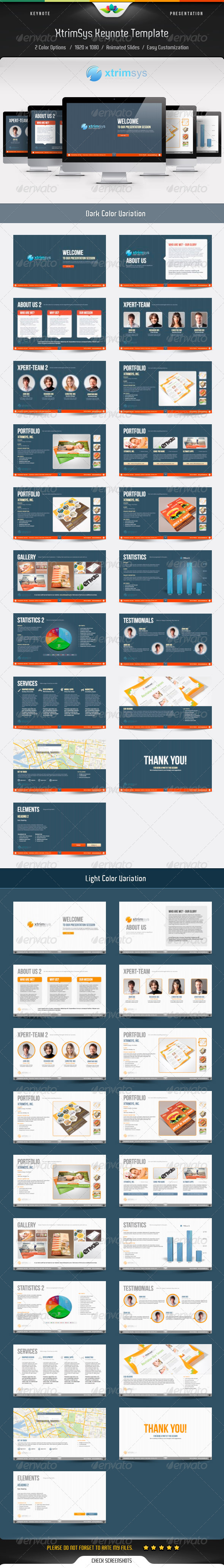 GraphicRiver Xtrimsys Keynote Template 4715335