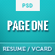Page One - Simple Vcard and Resume CV Template - ThemeForest Item for Sale