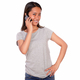 Smiling asiatic young woman speaking on cellphone - PhotoDune Item for Sale