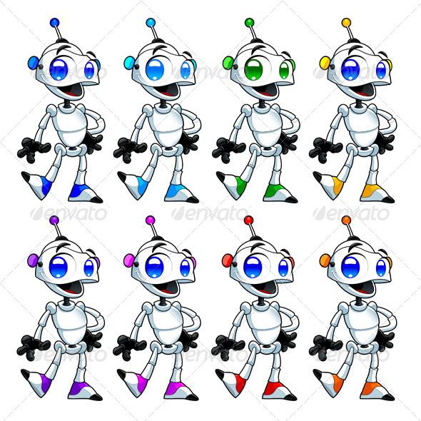 GraphicRiver Funny Robots 4715817
