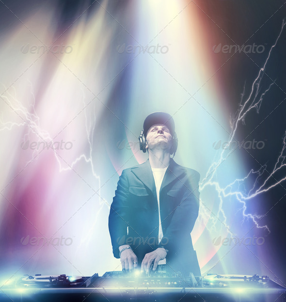 Working DJ - Stock Photo - Images