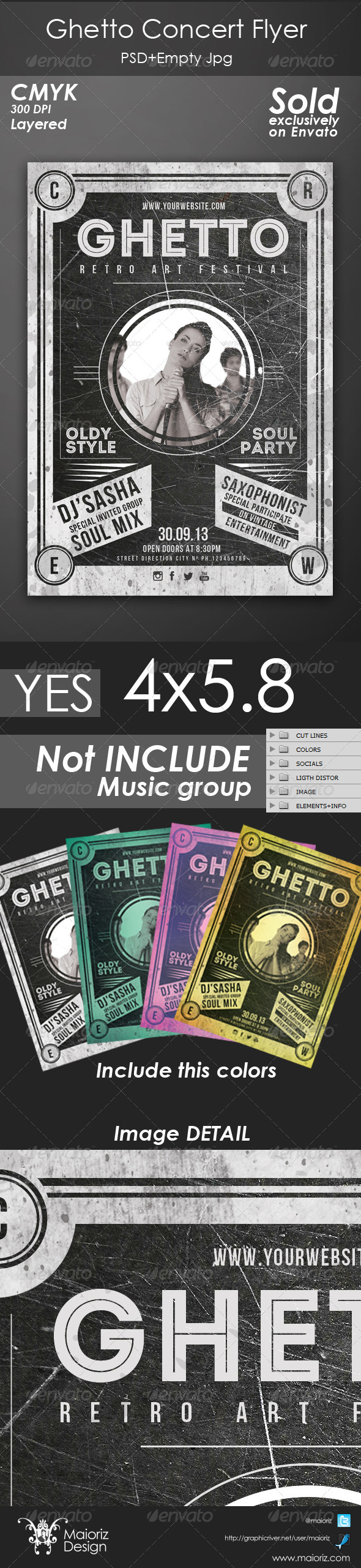 GraphicRiver Ghetto Concert Flyer 4716315